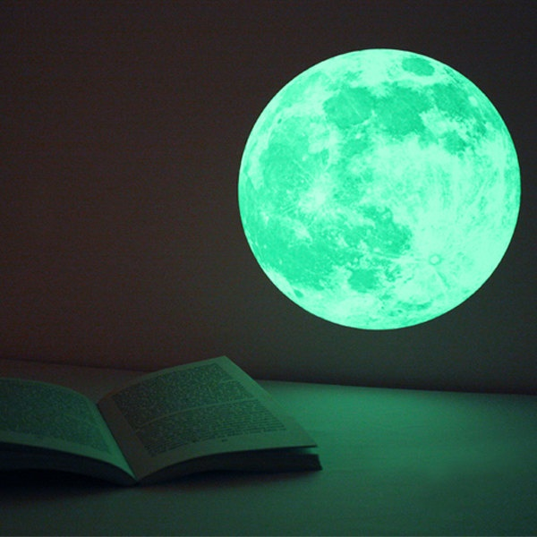 CLAIR DE LUNE moonlight wall-sticker -Medium (glow-in-the-dark sticker). $27.00, via Etsy.