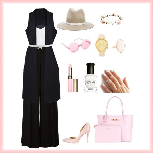 Pastel Business by letsplaydiy on Polyvore featuring Alice + Olivia, Roberto Cavalli, Charlotte Olympia, Ted Baker, Komono, rag & bone, Wildfox, Christian Dior, Accessorize and Clarins