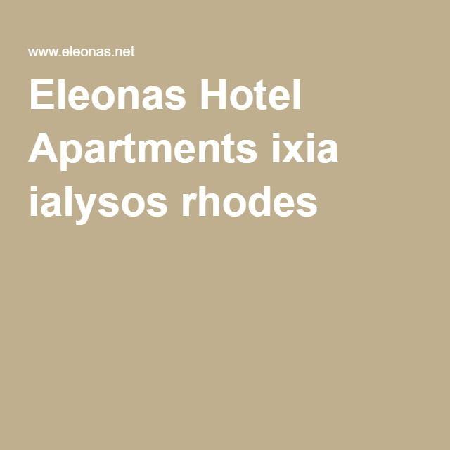Eleonas Hotel Apartments ixia ialysos rhodes