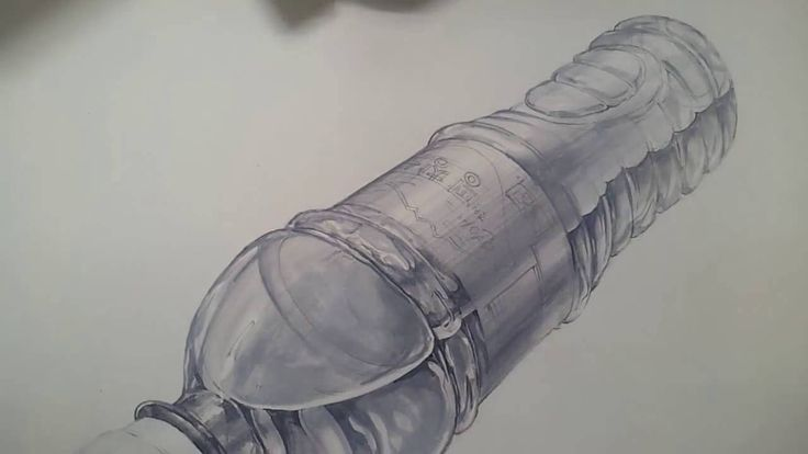기초디자인 생수병 채색 1.5/2 how to draw a water bottle
