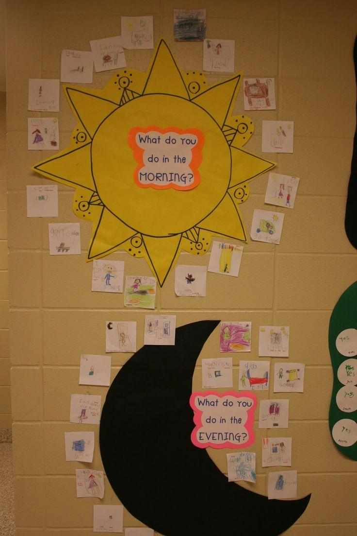 Mrs. Lee's Kindergarten: Space Centers and Activities day. & night