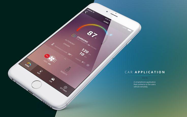 car remote app on Behance