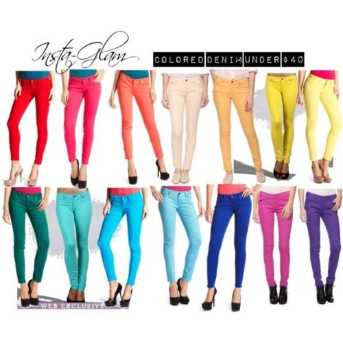 Colored jeansColors Please, Colors Pants, Colors Jeans, Colors Skinny, Jeans 3, Jeans Lookin Pretty, Jeans Lookinpretti, Colors Denim, Colored Jeans