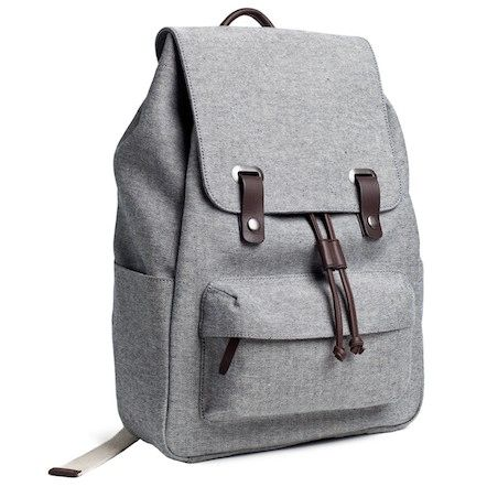 The Reverse-Denim Snap Backpack:  Everlane