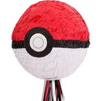 Pull String Pokeball Pinata 10 3/4in - Pokemon - Party City