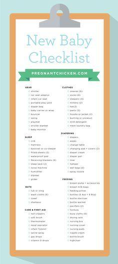 Best  New Baby Checklist Ideas On   Baby Checklist