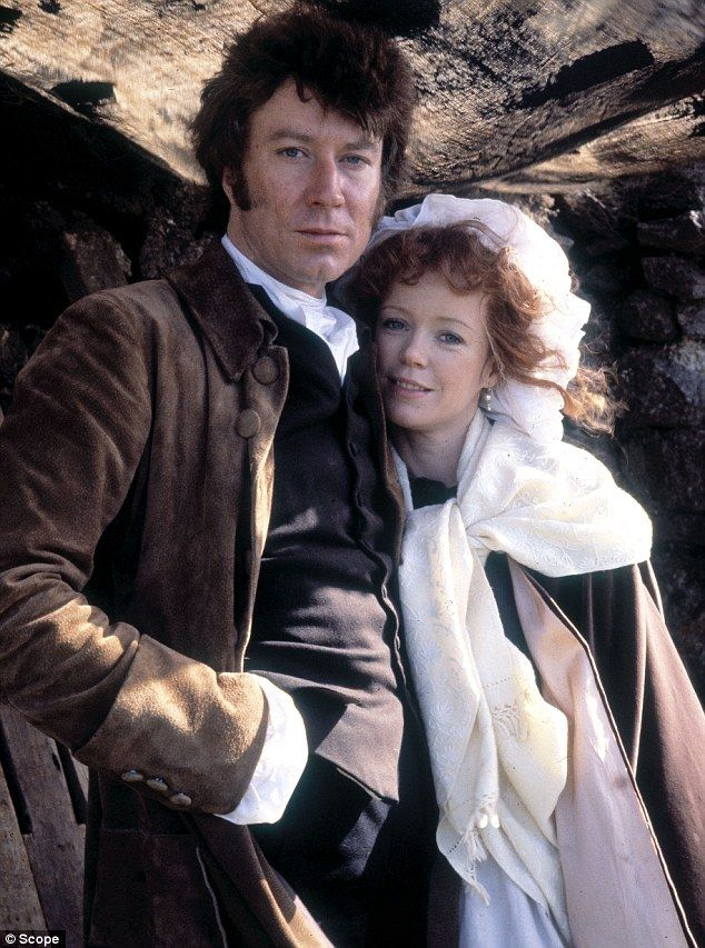 Who need's Colin Firth? Robin Ellis, here with Angharad Rees, was the original Mr Darcy when he played the Ross back in 1975 — via The Daily Mail