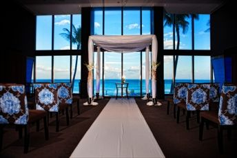 indoor ocean view ceremony | The Omphoy Ocean Resort and Spa | Palm  Beach Florida