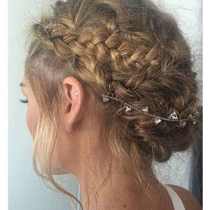Olivia's braided updo - July 24, 2015 #hair