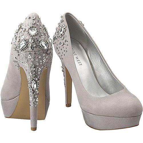 Glam Shoes for the Bride - Nine West 'Grase' Platform HeelsBedazzled Shoes, Diy Ideas, Halloween Costumes Ideas, Wedding Shoes, Nine West, Silver Shoes, Bridesmaid Shoes, Heels, Bridal Shoes