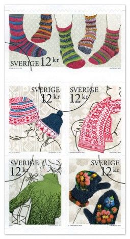 Swedish stamps with traditional knits.: Knits Stamps, Comic Books, Swedish Stamps, Art Postal, Stamps Collection, Postal Stamps, Fiber Art, Mail Art, Postage Stamps