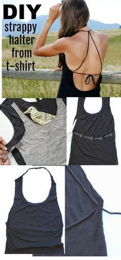 Geen naai Tshirt Refashion