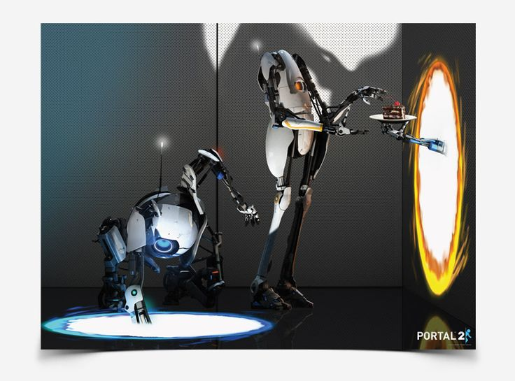 J!NX : Portal 2 Atlas and Peabody Poster - Clothing Inspired by Video Games & Geek Culture