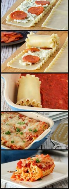 Pepperoni Pizza Lasagna Rolls | Bake a Bite