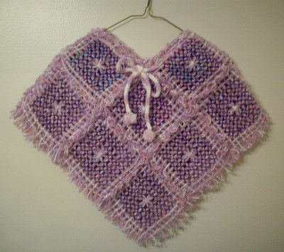 Handmade child poncho.