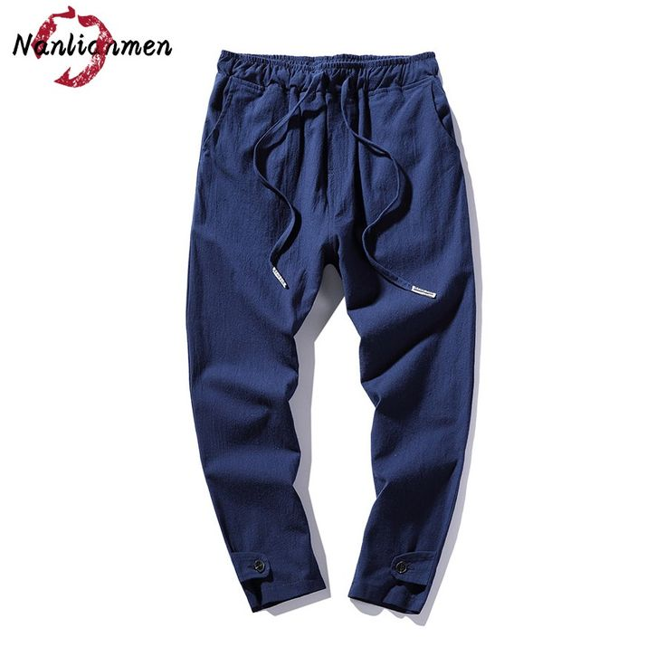 2017 New Summer Blue Casual Pants Men Joggers Ankle-Length Pants Mens Harem Pants pantalones chandal hombre pantalon cargo homme #Affiliate