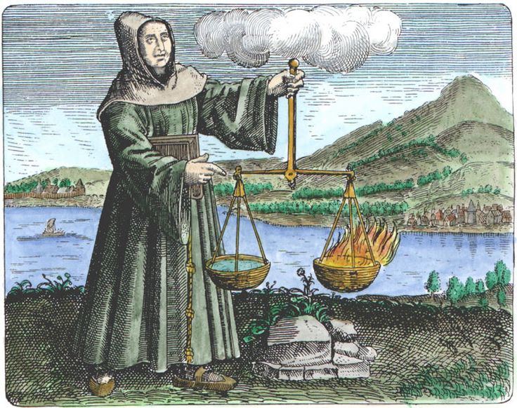 Roger Bacon, a 13th century Franciscan Friar, who is considered one of the earliest proponents of the scientific method, is considered the first real European alchemist. (Prior to Bacon, there was some exploration of alchemical theory and ideas, but no real practitioners.) He was primarily interested in the elixir of life and some form of ingestible gold which would prolong life. Bacon's writings on alchemy were used by many other practitioners well into the 19th century.