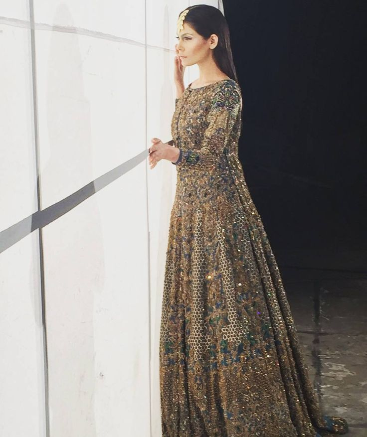 """""""#BTS: @aamnababer in @hsystudio for #HSY #BridalShoot with the Jewellry by…"""