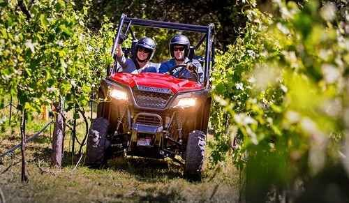 New 2016 Honda Pioneer 500 Red ATVs For Sale in Alabama. 2016 Honda Pioneer 500 Red, Places to go, things to see, and nothing to hold you back. That s the thinking that inspired the compact and capable Pioneer 500. Built to comfortably seat 2 passengers, and at 50-inches wide it can explore width restricted trails and fit in the bed of a full-size truck. Equipped with a lively 500-class engine, it rises to the challenge on the jobsite. And with a 5-speed electric-shift transmission featuring…