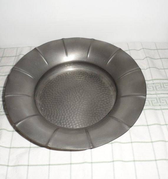 Vintage 1930's Pewter Ornately Footed Bowl/Designed by