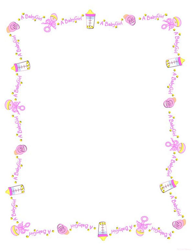 Baby Girl Borders Clipart - Clipart Kid | Projects | Baby, Baby shower printables