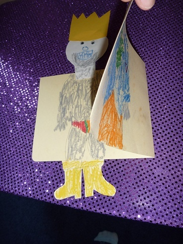 The Homeschool Den: Fairy Tale Unit: The Emperor's New Clothes Modify this to make folding flaps for different looks.