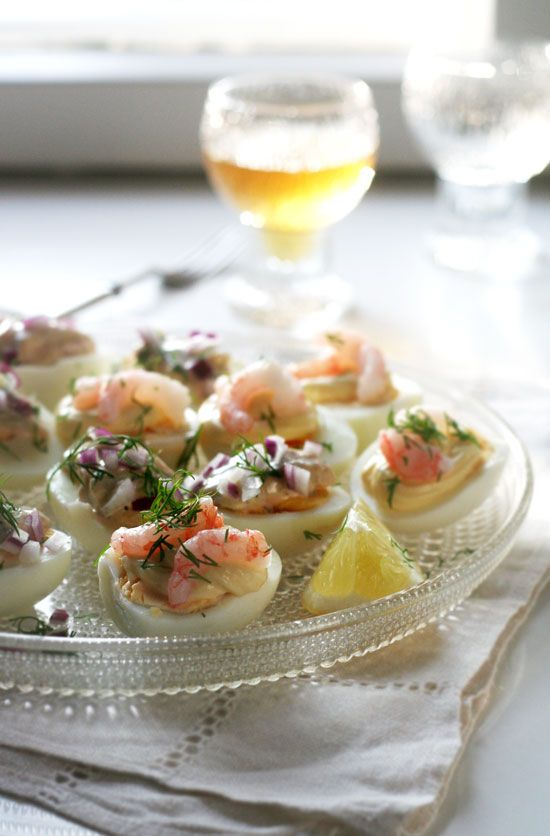 Shrimp and herring canapes i want to make this for a for Canape ideas for dinner party