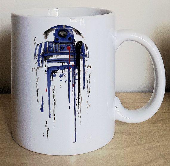 Star Wars R2D2 star wars mug r2 cup by LovexMug on Etsy