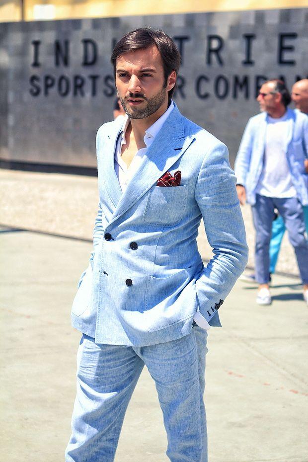 25  best ideas about Blue linen suit on Pinterest | Grey tweed ...