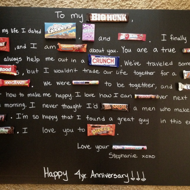 Candy gram for anniversary