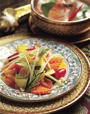 Sala Thai  try their mango salad, green curry bouillabaisse and angel wings