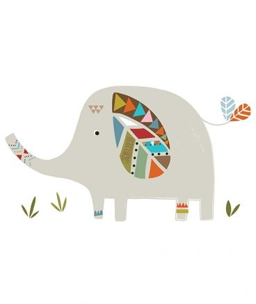 More from the French website with children's decor (lilipinso.com) Elephant
