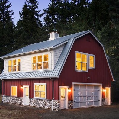 dutch colonial with gambril roof | ... colonial revival houses in the dutch style. Here: a Gamble Roof garage