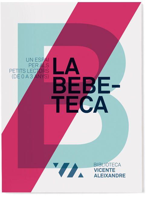Vicente Aleixandre library visual identity by Txell Gràcia