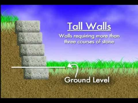 Video-How to Build a Retaining Wall wish I had shown this to hubby before I let him give an opinion.