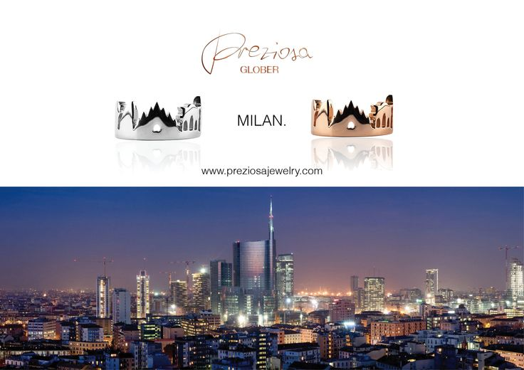 MILAN skyline Rings in Silver 925 and Silver 925 Pink Gold Plated 18k  price: 210€ / 240€ Available here http://www.preziosajewelry.com/en/  Milan Skyline Jewelry by Preziosa GLOBER   #BEAGLOBER