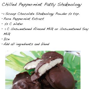 Chilled Peppermint Patty Shakeology - #YUM #loveshakeology #healthiestmealoftheday #dailydoseofdensenutrition - Head on over to www.fantabulouslyfit.com and click like or www.beachbodycoach.com/lindsayswartz3 to order yours today!