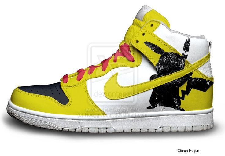 Pikachu Nike Dunks by ~Houggiebear on deviantART
