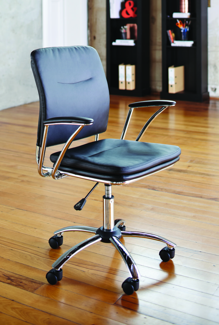 The Arrow Office Chair is a modern, stylish office chair that delivers comfort throughout the day. The eye-catching black on chrome design brings a sleek, sophisticated look to your office.