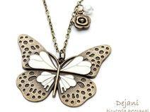 Grande collana farfalla