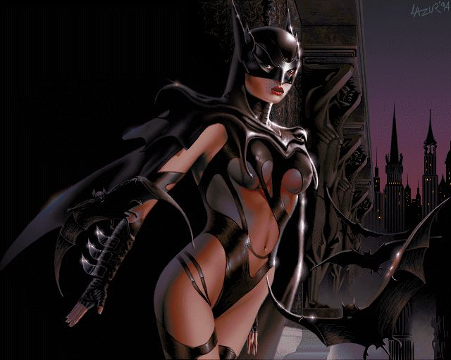 CATWOMAN pixel art from old Amiga 1200 256 color - Demoscene