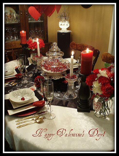on this tablescape design makes for a nice festive valentine 39 s day