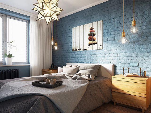 Эскиз спальни для друзей.Не Нужно бояться делать бюджетные квартиры,главное все правильно подобрать. #спальня #эскиз #3d #дизайнинтерьера #дизайнер #дизайнеринтерьера #вадимматевосянц #вердиз #bedroom #дизайнпроект #дизайнпроектназаказ #лофт #москва #россия #лампаэдисона #ikea #икея #folowme #like4like