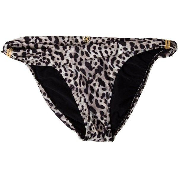Pre-owned ViX Paula Hermanny Deva Bia Swim Bottoms ($55) ❤ liked on Polyvore featuring swimwear, bikinis, bikini bottoms, animal print, vix bikini, fold over bikini bottoms, swim bikini bottoms, animal print swimwear and animal print bikini