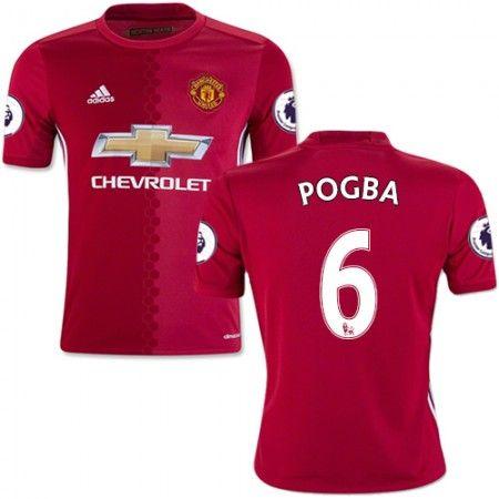 Manchester United 16-17 Paul #Pogba 6 Hjemmebanetrøje Kort ærmer,208,58KR,shirtshopservice@gmail.com