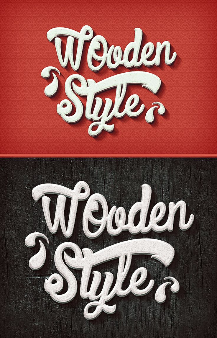 Wooden Text Effect – By Graphicsoulz