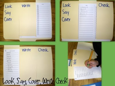 Look, Say, Cover, Write, Check (Word Study Activity that really works!)  www.chalkintherain-blog.blogspot.com