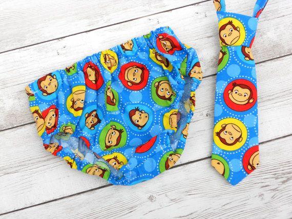 Mono 1 traje de cumpleaños traje de cumpleaños por ShopLilSquirts