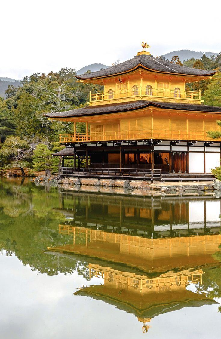 Kinkakuji is the most stunning temple to visit in Kyoto. Also known as the Golden Pavilion, you'll be able to take some amazing photographs. The setting is beautiful and the reflection are awe-inspiring. Kinkakuji is something you cannot afford to miss while travelling Japan.