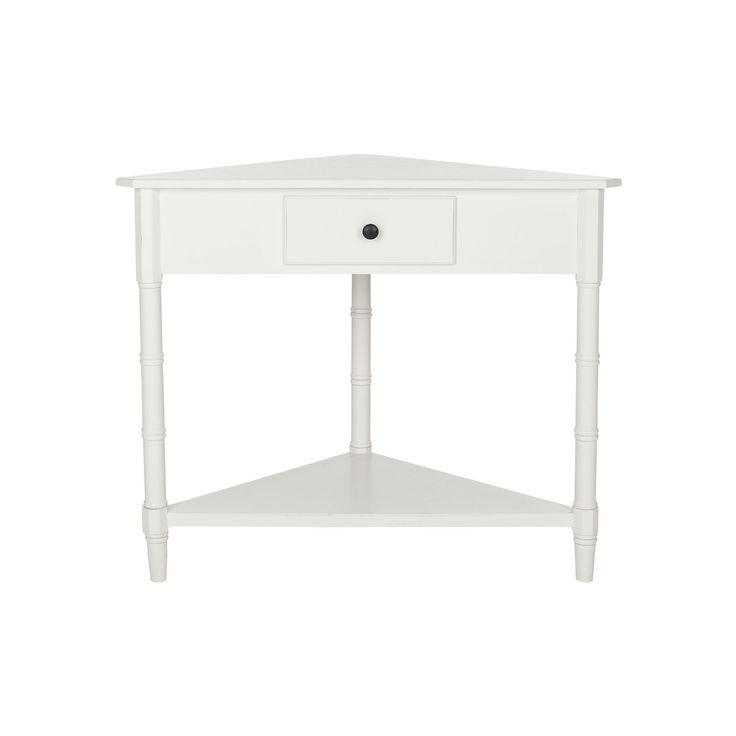 Safavieh Gomez Corner Accent Table, White